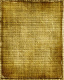 Vecchio documento dell'annata Fotografia Stock Libera da Diritti