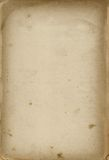 Vecchio documento della cartolina Fotografia Stock Libera da Diritti