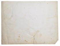 Vecchio documento della foto Fotografie Stock