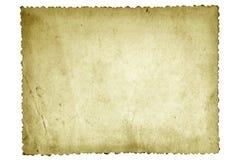 Vecchio documento della foto Fotografia Stock Libera da Diritti