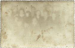 Vecchio documento della foto con i fantasmi Immagini Stock