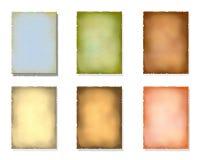 Vecchio documento di colore Immagini Stock Libere da Diritti