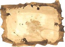 Vecchio documento di Grunge Fotografie Stock
