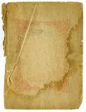 Vecchio documento di massima con il disegno decorativo immagini stock libere da diritti