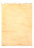 Vecchio documento di nota Fotografia Stock