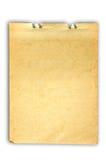 Vecchio documento di nota Fotografia Stock Libera da Diritti
