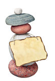 Vecchio documento di nota sulle pietre Immagine Stock Libera da Diritti