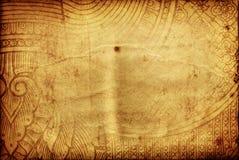 Vecchio documento di tradizione tailandese immagine stock