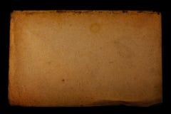 Vecchio documento introduttivo del grunge Fotografie Stock