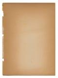 Vecchio documento invecchiato violento strappato sbiadetto dell'oggetto d'antiquariato dell'annata Fotografia Stock Libera da Diritti