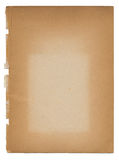 Vecchio documento invecchiato violento strappato sbiadetto dell'oggetto d'antiquariato dell'annata Fotografie Stock Libere da Diritti
