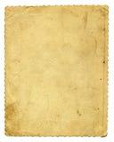 Vecchio documento isolato Fotografia Stock