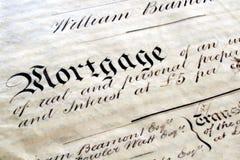 Vecchio documento legale di ipoteca Immagine Stock Libera da Diritti