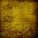 Vecchio documento musicale estraneo dentro per il disegno Immagini Stock Libere da Diritti