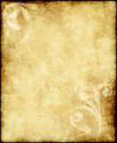 Vecchio documento o pergamena Fotografie Stock
