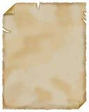 Vecchio documento. Pergamena. Fotografia Stock