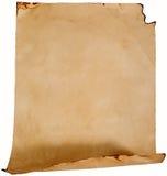 Vecchio documento sgualcito Fotografie Stock
