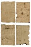 Vecchio, documento spiegazzato Immagine Stock Libera da Diritti