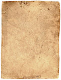 Vecchio documento strutturato stracciato Fotografia Stock