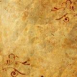Vecchio documento sull'ornamento Fotografia Stock