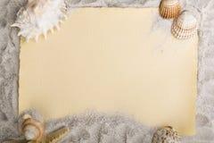Vecchio documento sulla sabbia Immagini Stock Libere da Diritti