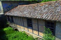 Vecchio dramma Grecia della casa Immagini Stock