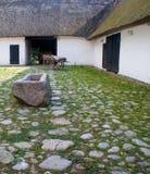 Vecchio e case di cortile Fotografia Stock