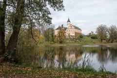 Vecchio e castello storico Radun in repubblica Ceca Fotografia Stock Libera da Diritti
