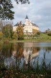 Vecchio e castello storico Radun in repubblica Ceca Fotografia Stock
