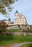Vecchio e castello storico Radun in repubblica Ceca Immagine Stock Libera da Diritti
