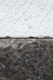Vecchio e nuovo blocco di marmo Immagini Stock
