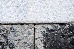 Vecchio e nuovo blocco di marmo Fotografia Stock