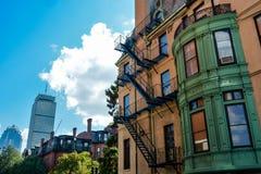 Vecchio e nuovo a Boston Immagine Stock