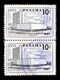 Vecchio e nuovo delle costruzioni serie della legislatura, circa 1957 Fotografie Stock