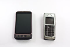 Vecchio e nuovo mobile Immagini Stock