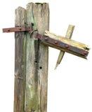Vecchio ed alberino rotto del cancello Fotografia Stock Libera da Diritti