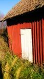 Vecchio edificio attiguo in Norvegia Fotografie Stock Libere da Diritti