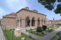 Vecchio edificio dell'ottomano, costruito in 1388, la Turchia Fotografia Stock Libera da Diritti