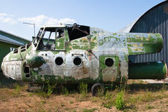 Vecchio elicottero Immagine Stock