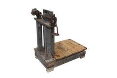 Vecchio equilibrio per pesare il granulo Fotografie Stock Libere da Diritti