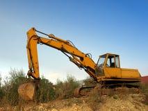 Vecchio escavatore seguito Immagine Stock Libera da Diritti