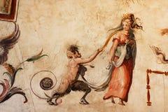 vecchio för florence frescopalazzo Royaltyfria Bilder
