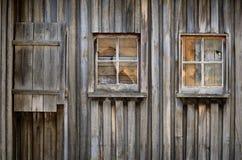 Vecchio fabbricato agricolo del legname fotografia stock