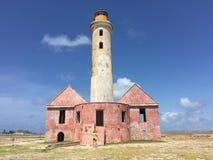 Vecchio faro al piccolo Curacao fotografia stock libera da diritti