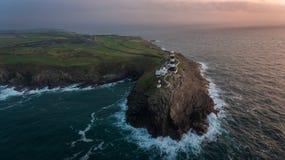 Vecchio faro capo Kinsale Sughero della contea l'irlanda fotografia stock
