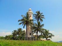 Vecchio faro coloniale a Galle forte, Sri Lanka Fotografia Stock