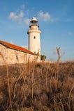 Vecchio faro di Paphos Fotografia Stock