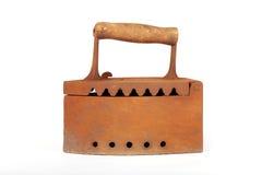 Vecchio ferro arrugginito del carbone Fotografie Stock