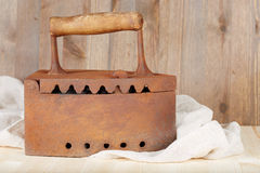 Vecchio ferro arrugginito del carbone Fotografia Stock Libera da Diritti