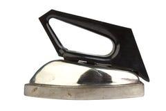 Vecchio ferro dell'annata isolato su priorità bassa bianca Immagine Stock Libera da Diritti
